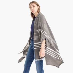 Jcrew Scarf Striped with Fringe New With Tag